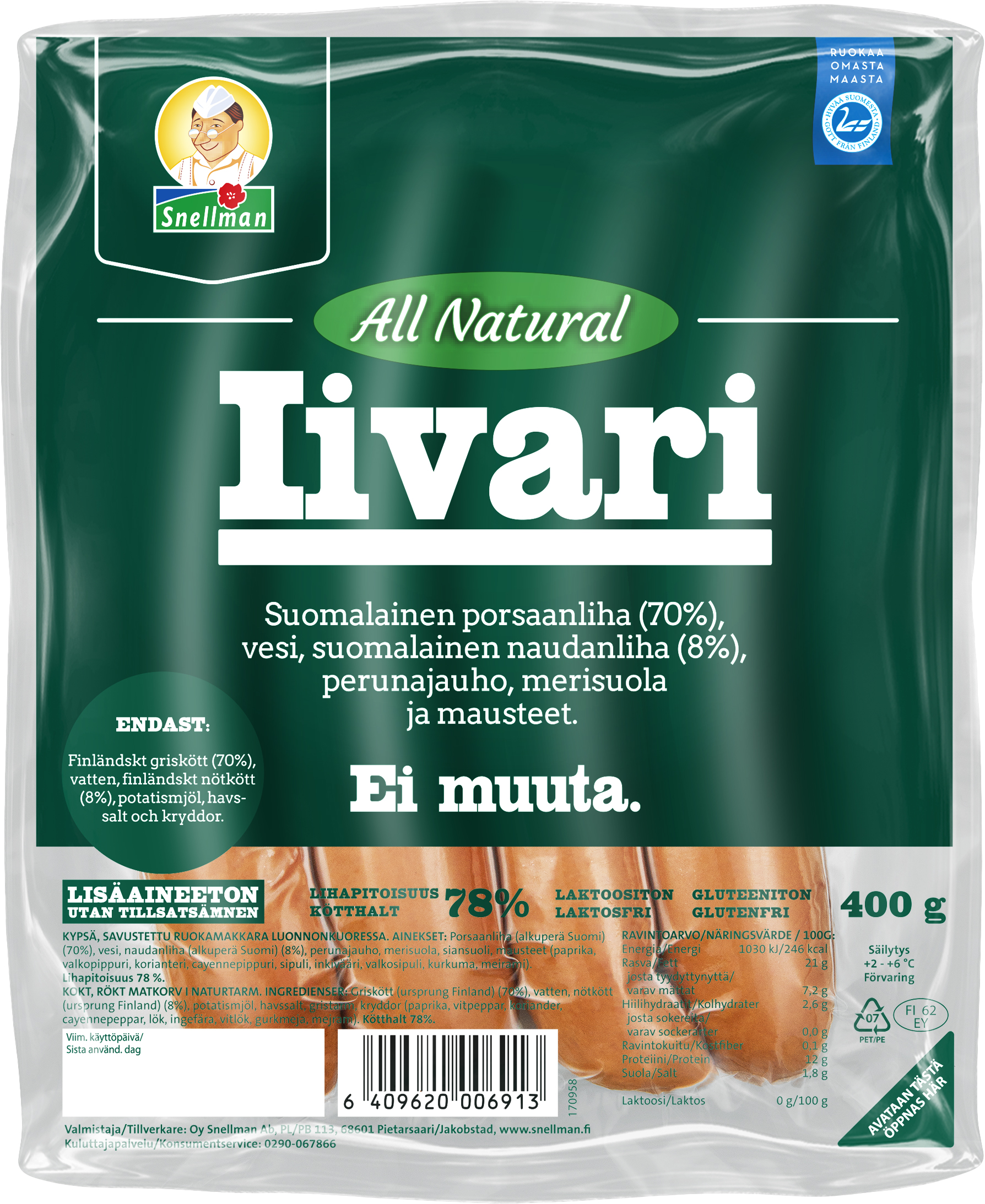 all natural iivari 400 g