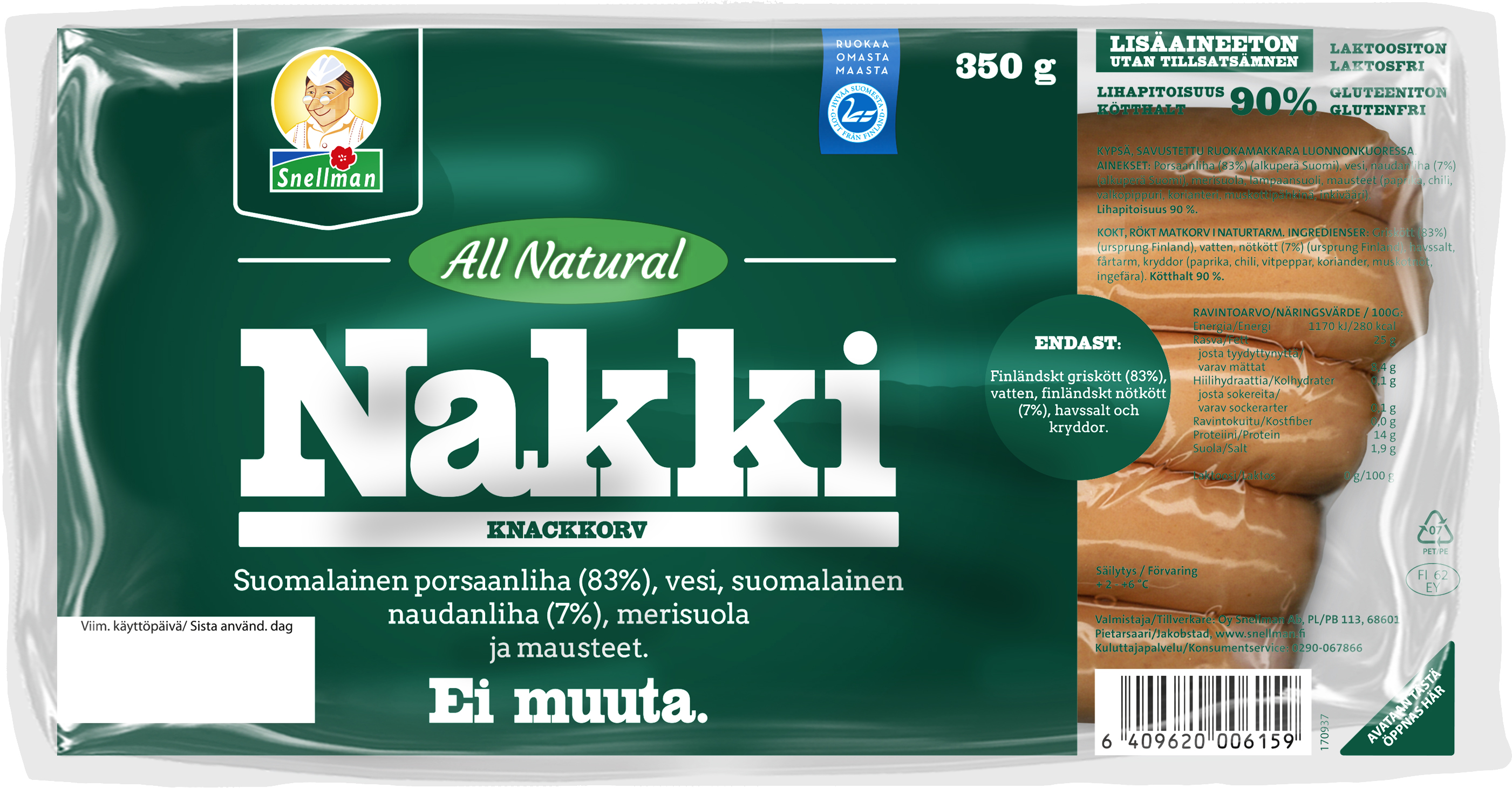 all natural nakki 350 g